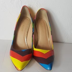 Liliana multicoloured high heel classy shoe